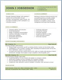 Resumes Free Download Entrancing Free Professional Resume Templates