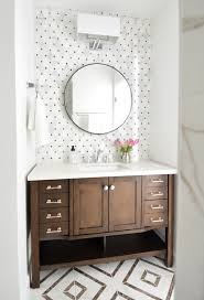 brown bathroom furniture. small hall bathroom makeover brown and white shiny chrome hardware faucet furniture