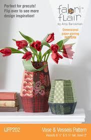 Paper Piecing Flower Indygo Junction Vase Vessels Dimensional Paper Piecing Pattern