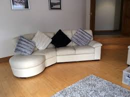 4 seater curved leather corner scs sofa and matching 3