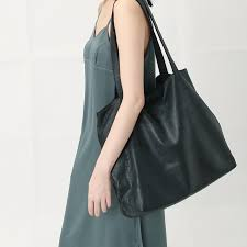 multi layer zipper design light leather tote bag black no216 messenger bags sling bags i
