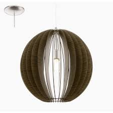 cossano slatted wood brown globe large ceiling pendant 50cm