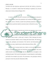 Ethics And Irb Essay Example Topics And Well Written