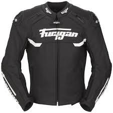 furygan akira leather jacket black white