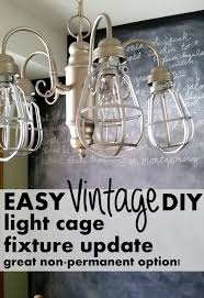 inexpensive lighting fixtures. diy light cages for an inexpensive update to any fixture home decor lighting fixtures r