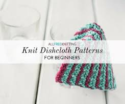 Knit Dishcloth Pattern Simple 48 Knit Dishcloth Patterns For Beginners AllFreeKnitting