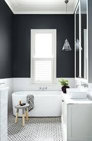 black and white floor tiles bathroom patterned black and white tiles on the floor is a
