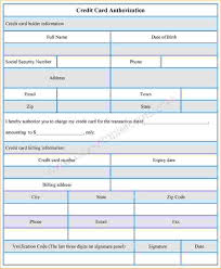 11+ Sample Credit Card Authorization Form | Pay Stub Template
