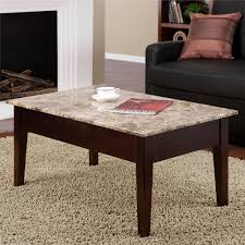 faux marble lift top coffee table espresso