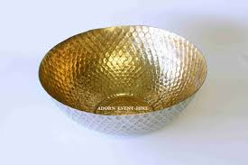 Gold Decorative Bowl Hammered Gold And Silver Bowl Large