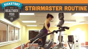 Stairmaster Stairmill Booty Blasting Cardio Routine Workout Mind Over Munch Kickstart Series