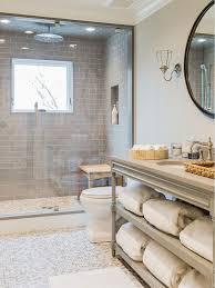 modern bathroom subway tile. Modern Bathroom With Grey Subway Tiles Highlighting The Shower Tile