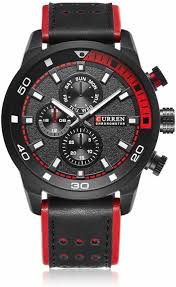 <b>Curren</b> CR-<b>8250</b>-Black-Red Analog Watch - For Men - Buy <b>Curren</b> ...
