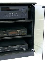 stereo cabinet with glass doors black stereo cabinet adjule shelf better view of small black oak