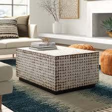 Constructed from mahogany, it features refined details like beveled wood edges, turned. White Coffee Tables Joss Main