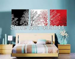 online wall art sets of 3 piece modern abstract still life black white red tree canvas on black and white wall art sets with online wall art sets of 3 piece modern abstract still life black