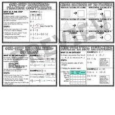 7th Grade Math Anchor Chart Reference Sheets Full Year Bundle