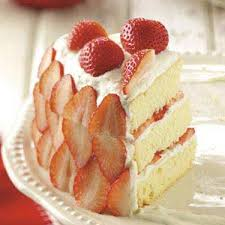 Strawberry Cream Cake Recipe Taste Of Home