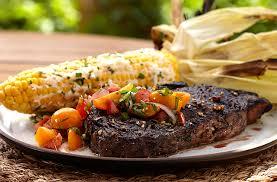 featured recipe mk bison ribeye with corn