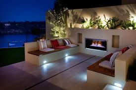 eyecatching modern outdoor fireplaces turn the patio into a