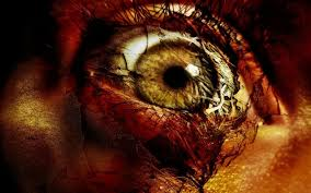 Horror Eye With Blood HD Wallpaper
