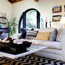 Chevron Rug for Mediterranean Living Room with Wall Art