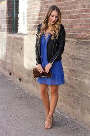 twenties girl style blogger dress jacket shoes bag blue dress lace dress black jacket animal print