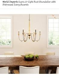 capra 6 light rust chandelier with distressed ivory accents household in katy tx offerup