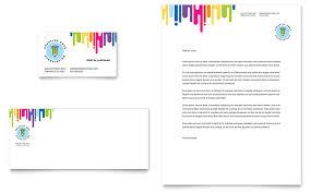 Kids Art Camp Business Card Letterhead Template Design