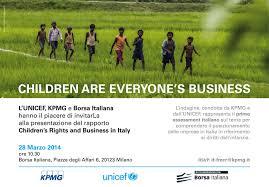 Diritti dei bambini e imprese, un'indagine UNICEF-KPMG - Unicef Italia