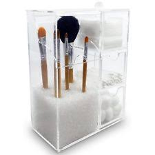 makeup brush holder with lid. ikee design acrylic makeup brush holder cotton pad container cosmetic organizer with lid