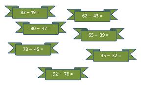 класс урок на тему Устный счет на сложение и вычитание по  Вычитание