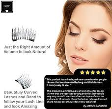 amazon arvesa 8x false magnetic eyelashes full set with applicator brush and ebook the best fake eye lashes magnet dual magnets silk eyelash