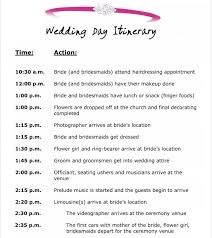 Event Itinerary Template 2641 Wedding Itinerary Template