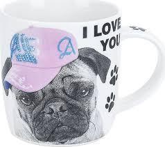 "<b>Кружка ENS Group</b> ""Собачка I love you"", 500058, белый, черный ..."