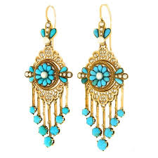 victorian antique french chandelier earrings for