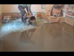 concrete suloor preparation for the vinyl floor installation how to diy mryoucandoityourself