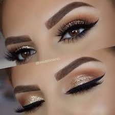 gold makeup glitter gold and brown eye makeup gold glitter wedding sparkly eye makeup eye shadow glitter brown glitter eyeshadow gold makeup looks