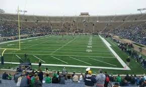 Notre Dame Stadium Section 18 Home Of Notre Dame Fighting