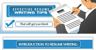 Tips For An Effective Resumes Effective Resume Writing Tips Infographic