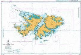 British Admiralty Nautical Chart 2512 The Falkland Islands
