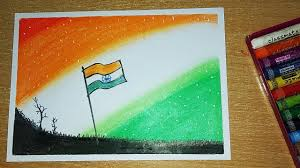 Independence Day Drawing Creative Drawing Indian Flag How To Draw Indian Flag For Kids