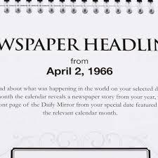 Newspaper Year Personalised Calendar