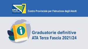Pubblicazione Graduatorie definitive ATA Terza Fascia – CPIA Trapani