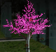 outdoor blossom tree led lights. 2m 6.5ft height outdoor artificial christmas tree led cherry blossom light 1152pcs leds straight trunk free shipping tre led lights r