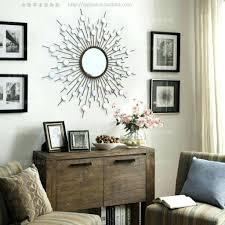 wall mirrors modern mirror art sunburst metal wire with regard mirrored regarding property large macrame hanging