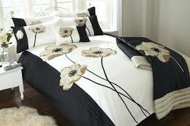 cream and black duvet cover black and cream duvet cover set