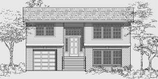 small house plans with basement. house front color elevation view for 9935 split level plans, small plans with basement e
