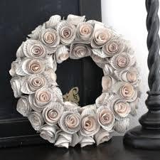 Christmas Paper Flower Wreath How To Make A Paper Flower Door Wreath