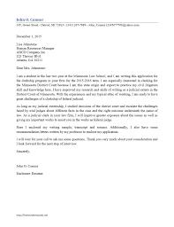 Cover Letter Design Sample Judicial Clerkship Cover Letter For